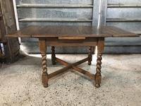 Oak Barley Twist Extending Dining Table (3 of 4)