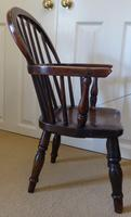 Victorian Ash & Elm Wood Childs Windsor Chair c.1840 (3 of 14)