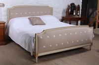 Simple French Upholstered Super King Size Bed