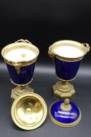 Good Pair of Late 19th Century Sèvres Type Porcelain Lidded Vases (3 of 8)