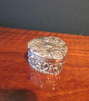Antique Silver Heart Shaped Trinket Box (7 of 7)