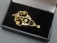 Edwardian 9ct Gold, Peridot & Pearl Pendant (5 of 5)