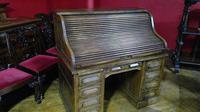 Oak Roll-top Desk (6 of 6)