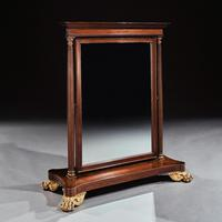 Large 19th Century French 2nd Empire Dressing Mirror (6 of 6)