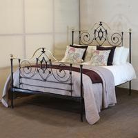 Black Mid Victorian Antique Bed