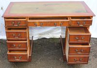 1960's Pedestal Desk with Green Leather Inset (2 of 4)