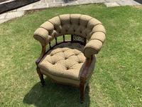 Late Mahogany Victorian Tub / Occasional Chair (3 of 4)