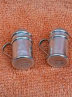 Antique Sterling Silver Hallmarked Miniature Pepper Shakers, 1905 Chester Cornelius Desormeaux Saunders & James Francis Hollings (frank) Shepherd (7 of 12)