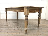 Victorian Pine Kitchen Table (2 of 9)