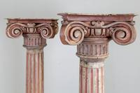 Pair of Tall Painted Victorian Columns Pillars (3 of 11)
