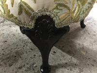 Queen Anne Style French Wing Back Chair (4 of 9)