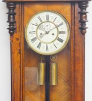 Superb Antique German Twin Walnut 8-Day Mantel Clock Vienna Striking Wall Clock (6 of 10)