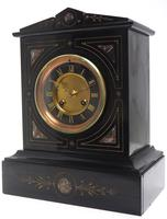 French Slate & Marble Mantel Clock 8 Day Striking Mantle Clock (5 of 8)