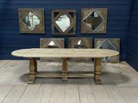 Huge French Bleached Oak Monastery Dining Table (23 of 30)
