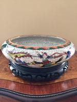 Chinese Crackle-glaze Bowl on Wooden stand, Qing Dynasty (2 of 10)