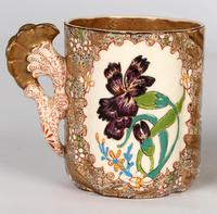 Zsolnay Pecs Hungarian Hand Painted Floral Cabinet Cup & Saucer c.1890 (14 of 16)