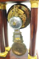 Fine Antique Flame Mahogany Mantel Clock French Striking Portico Mantle Clock (12 of 13)