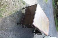 1960s Large Mahogany Pedestal Desk with Brown Leather on Top (4 of 4)