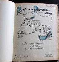 1910 1st Edition Mabel Lucie Attwell Children's Book Peeps Into Picture Land (2 of 5)