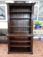 Waring & Gillow oak bookcase 1910 splits into 2 (10 of 10)