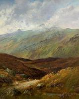 (1of2) Huge Exceptional 19thc Snowdonia Welsh Mountain Landscape Oil Painting (9 of 15)