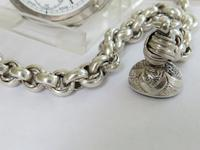 Antique silver Dimier Freres pocket watch and chain (5 of 5)