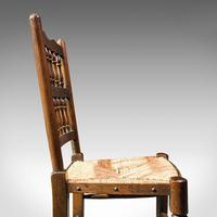 Set of 12, Antique Lancashire Chairs, Beech, Spindle Back, Seat, Edwardian, 1910 (11 of 12)