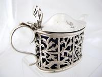 Pretty Victorian Pierced Silver Mustard Pot Edmond Johnson London 1895 (5 of 10)