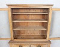 Arts & Crafts Pine Glazed Bookcase School Display Cabinet Dresser (6 of 12)