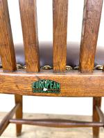 Early 20th Century Antique Oak Desk Chair (9 of 9)