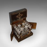 Antique Napoleon III Liquor Cellar, French, Liqueur Box, Glass Decanters, 1830 (2 of 12)