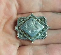 Victorian Silver Swallow Locket Brooch (11 of 11)