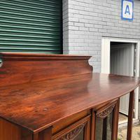 Antique Arts & Crafts Carved Walnut Bookcase (12 of 13)