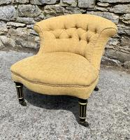 Small Antique Victorian Upholstered Salon Chair (2 of 17)