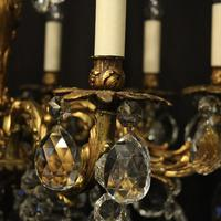 French 10 Light Gilded Bronze Antique Chandelier Oka04088 (4 of 10)