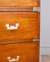 19th Century Mahogany Campaign Chest with Inset Brass Handles (10 of 10)