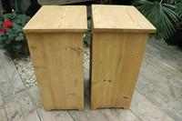 Fabulous! 'Chunky' Pair of Old Pine Bedside Cabinets - We Deliver! (6 of 8)