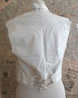Antique Victorian Ivory Colour Silk Waistcoat (3 of 12)
