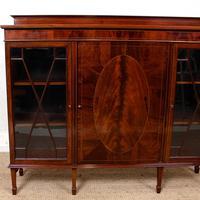 Bookcase Astragal Glazed Inlaid Mahogany (4 of 10)