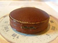 Antique Jewellery or Fob Watch Box 1910 Edwardian Burgundy Leatherette Satin Lined (7 of 9)