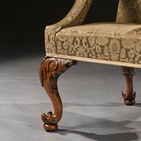 Mid 18th Century George II Walnut Library Open Armchair of Grande Scale (6 of 9)