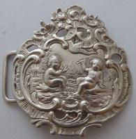 Victorian Maternity 1898 Hallmarked Solid Silver Nurses Belt Buckle (4 of 8)