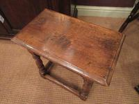 Antique George II Style Oak Joint Stool (5 of 5)