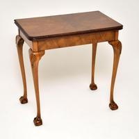 Queen Anne Style Walnut Card Table c.1930