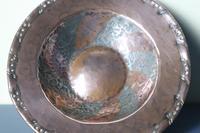 Arts & Crafts Hugh Wallis Hammered Copper & Pewter Spiral Pattern Dish c.1912 (5 of 21)