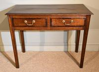 18th Century Oak Two Drawer Side Table