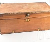 19th Century Camphor Wood Trunk Brass Fittings (3 of 7)