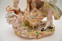 Antique Italian Capodimonte Porcelain Table Lamp (7 of 11)