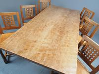 Mouseman Oak Dining Table & Set of 6 Chairs (20 of 20)