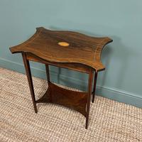 Elegant Inlaid Rosewood Antique Occasional Table (2 of 5)